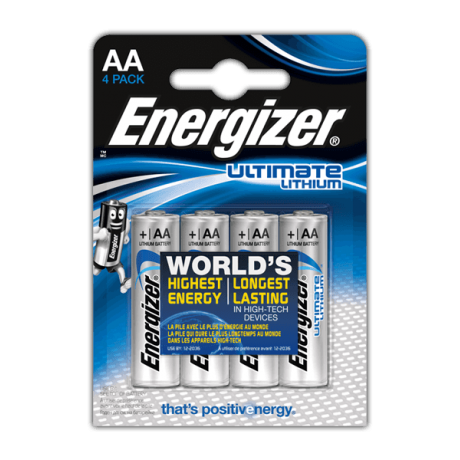 ENERGIZER PILES ULTIMATE LITHIUM AA/LR06 X4 1,5V