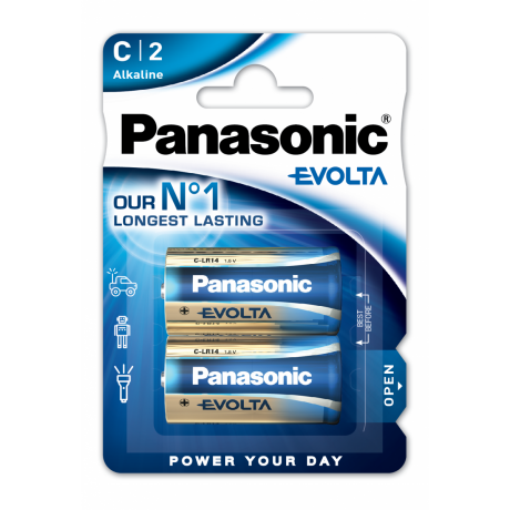 PANASONIC EVOLTA PILES ALCALINES LR14 X2 1,5V