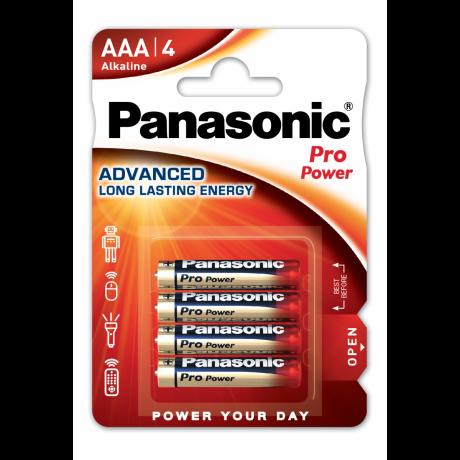 PANASONIC PRO POWER PILES ALCALINES AAA/LR03 X4 3V